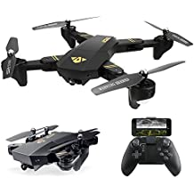 ARRIS Quadcopter Drone with Camera Live Video, Foldable Drone 2.4G Wife FPV Pocket Quadcopter RTF With 720P 2MP HD Camera - Altitude Hold/Headless/One Key Take Off/Landing/APP Control/3D Flip