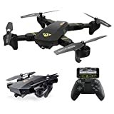 Quadcopter Drone with Camera Live Video, ARRIS Foldable Drone 2.4G Wifi FPV Pocket Quadcopter RTF With 720P 2MP HD Camera - Altitude Hold / Headless / One Key Take Off / Landing /APP Control / 3D Flip