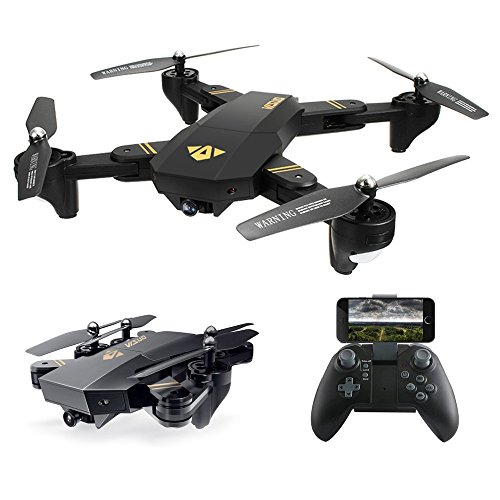 Quadcopter Drone with Camera Live Video, ARRIS Foldable Drone 2.4G Wifi FPV Pocket Quadcopter RTF With 720P 2MP HD Camera - Altitude Hold / Headless / One Key Take Off / Landing /APP Control / 3D Flip by ARRIS