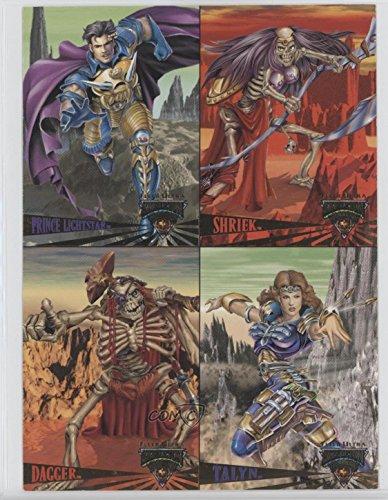 Prince Lightstar; Shriek; Dagger; Talyn (Trading Card) 1995 Fleer Ultra Skeleton Warriors - Promo Panel #NoN