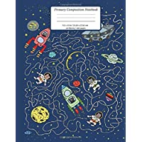 Primary Composition Book: Dotted Midline and Picture Space | Grades K-2 Composition School Exercise Book | 100 Story…