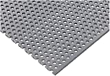 PVC (Polyvinyl Chloride) Perforated Sheet, Staggered Holes, Opaque Gray, 0.1875'' Thickness, 32'' Width, 48'' Length, Staggered 3/16'' Holes, 0.3125'' Center to Center