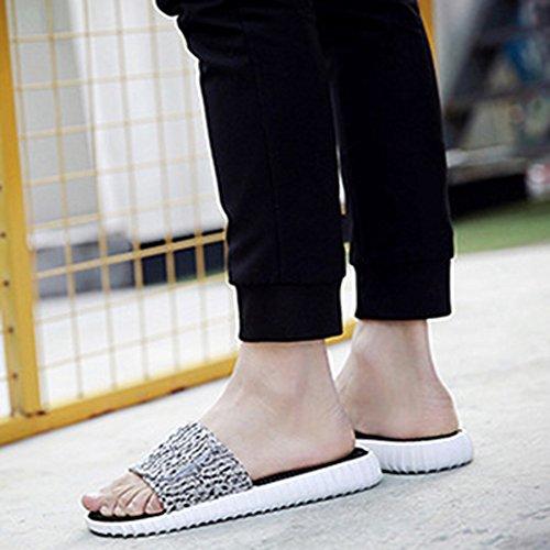 White D'intérieur Sandales MYXUA Femmes Pantoufles Des D'orteil Pantoufles Extérieures S'ouvrent De Toile Des Des Hommes xFOw4WF0q6