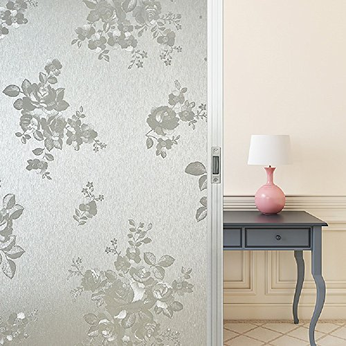 Coavas Privacy Window Film No Glue Static Decorative Self Adhesive Glass  Film Frosted Window Tint Stained Glass Window Film For Bathroom Home  Kitchen Office