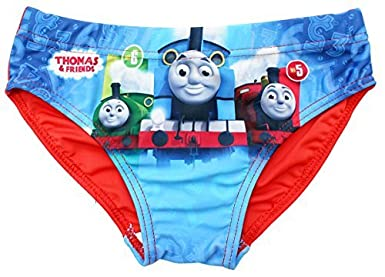 Boys Thomas The Tank Engine Steam Train Swimming Brief Style Trunks Sizes from 2 to 5 Years
