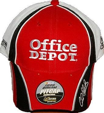 7a372a43d68 Amazon.com  Carl Edwards  99 Office Depot Adult Adjustable Trackside Pit Cap  Hat  Clothing
