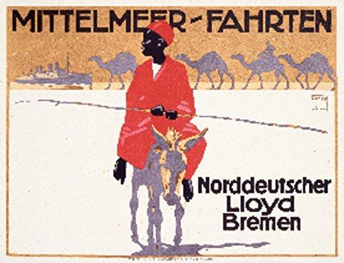 Mittelmeer-Fahrten Vintage Poster (artist: Hohlwein) Germany c. 1914 (12x18 Art Print, Wall Decor Travel ()