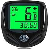 DINOKA Bike Speedometer Waterproof Wireless Bicycle Bike Computer and Cycling Odometer with Multi-Function LCD Backlight…