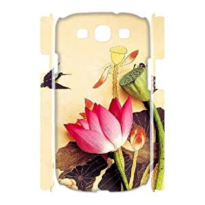 Customized Phone Case with Hard Shell Protection for Samsung Galaxy S3 I9300 3D case with Ink painting lxa#287944