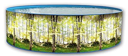 Piscina acero promo imitacion bosque 3,50 x 0,90m 8318: Amazon.es ...