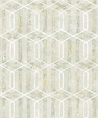 Advantage 2809-SH01067 Stormi Light Green Geometric Wallpaper