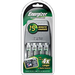Energizer 15-Minute Battery Charger Kit With Car Adapter