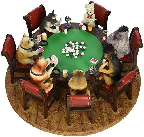 Dry Branch Sports Design 9 Poker Dogs Figure by Marion & Co