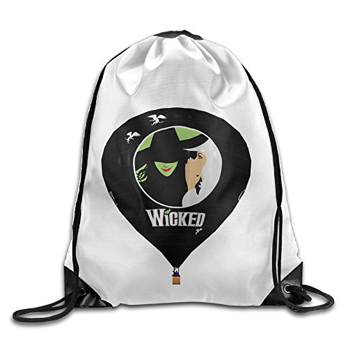 Bekey Wicked Musical. Gym Drawstring Backpack Bags For Men & Women For Home Travel Storage Use Gym Traveling Shopping Sport Yoga (Wicked Witch Of The West Socks)