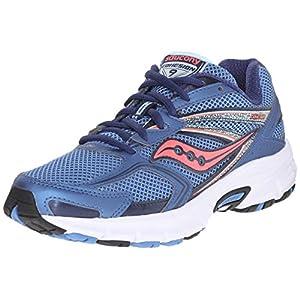 Saucony Women's Cohesion 9 Running Shoe, Blue/Light Blue/Coral, 5 M US