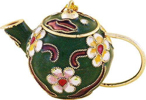 Green Cloisonne Teapot Ornament