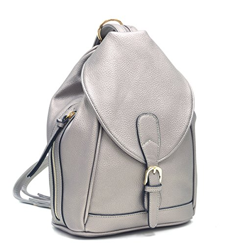 Dasein Mini Faux Leather Convertible Backpack Purse Triangle Shoulder Sling Bag Multipurpose Daypack Travel Handbag for Women & Girl