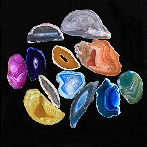 FidgetFidget Agate Slices Wholesale 5Pcs Beautiful Geode Polished Slab Brazil Quartz Random - Slab Polished Agate