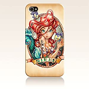 SUUER Rubber Silicone The Little Mermaid Designer Personalized Custom Plastic Rubber Tpu CASE for iPhone 5 5s Durable Case Cover