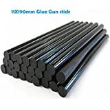 Mangocore 12pcs/lot 11mmx190mm DIY Hot Melt Glue Sticks Black color For Hot Melt Gun Car Audio Craft General Purpose
