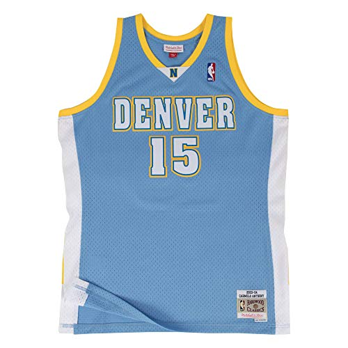 Mitchell & Ness Light Blue NBA Denver Nuggets Carmelo Anthony 2003 Road Swingman Jersey (LtBlue, 2XL)