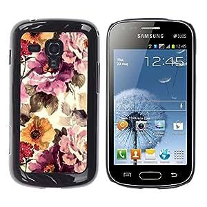 iKiki Tech / Estuche rígido - Vintage Vignette Sunshine - Samsung Galaxy S Duos S7562