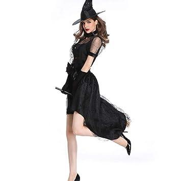 Disfraz De Bruja De Halloween, Disfraz De Cosplay De Falda Larga ...