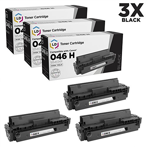 LD Compatible Toner Cartridge Replacement for Canon 046H 1254C001 High Yield (Black, 3-Pack)