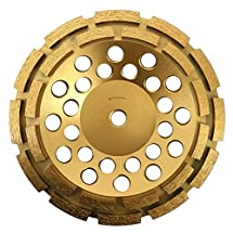 """Whirlwind USA GPD 7-Inch Diamond Grinding Cup Wheel Double Row Premium Higher Diamond Concentration for Concrete Mortar with 5/8-Inch 11mm Thread (7"""")"""