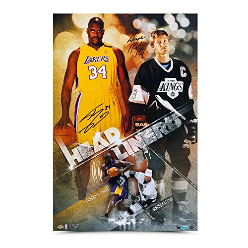 Wayne Gretzky & Shaquille O'Neal Autographed