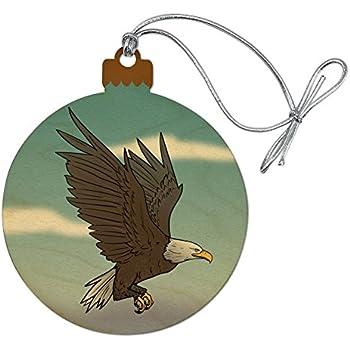 Amazon.com: GRAPHICS & MORE Bald Eagle Flying Wood ...