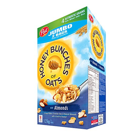 Post Jumbo Honey Bunches of Oats with Almonds, 1.2kg