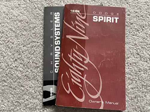 1989 Dodge Spirit Owners Manual