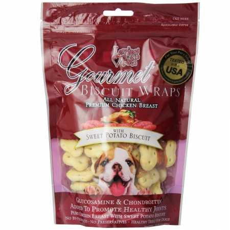 Dog Biscuits Glucosamine (Loving Pets Gourmet Sweet Potato Biscuit Chicken Wrap (8 oz))