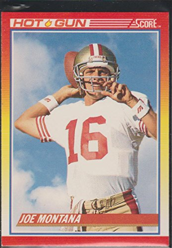 - 1990 Score Joe Montana 49ers Hot Gun Football Card #311