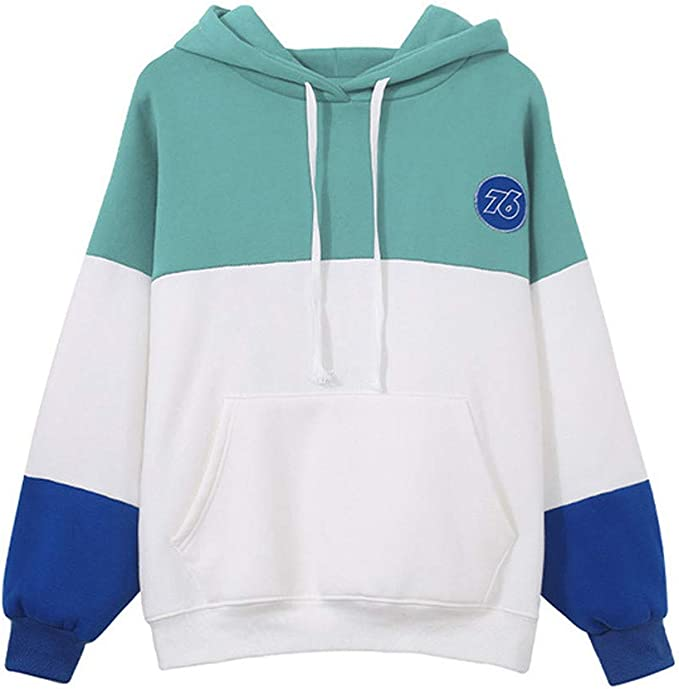 Tops for Women, KYLEON Women\u0027s Hoodies Colourblock Long