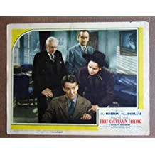 DA47 That Uncertain Feeling MERLE OBERON '41 Lobby Card. This is an original lobby card; not a dvd or video. Lobby cards were used to advertise film playing at theater and they measure 11 by 14 inches.