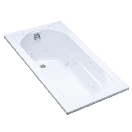 KOHLER K-1357-0 Devonshire 5-Foot Whirlpool, White - Freestanding ...
