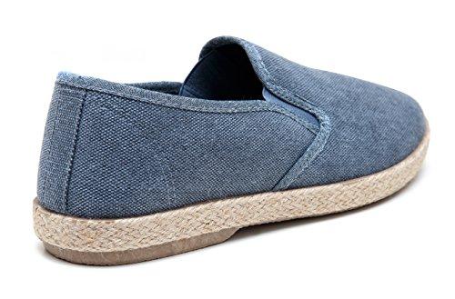 espadrillas Mocassini blu Evoga artigianali basse estive scarpe uomo casual qPwd5pOx4d