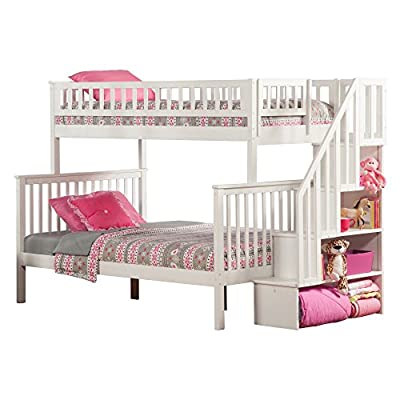 Atlantic Furniture Woodland Staircase Bunk Bed with UTDL