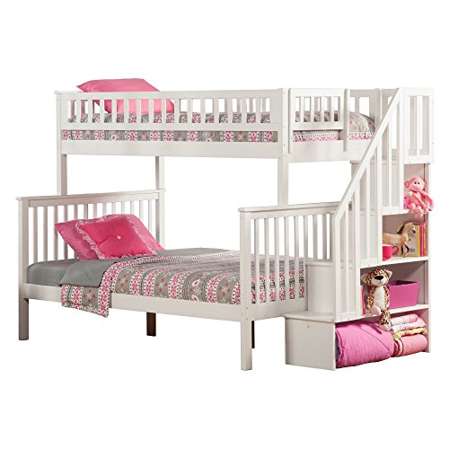 Atlantic Furniture Woodland Staircase Bunk Bed With Utdl Stupidprices