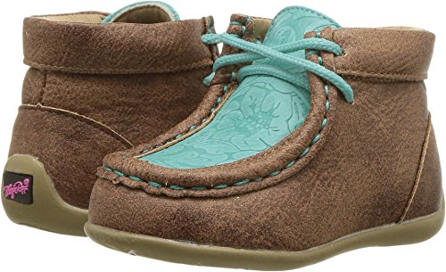 M&F Western Kids Baby Girl's Mia (Toddler) Tan/Turquoise 7 M US Toddler
