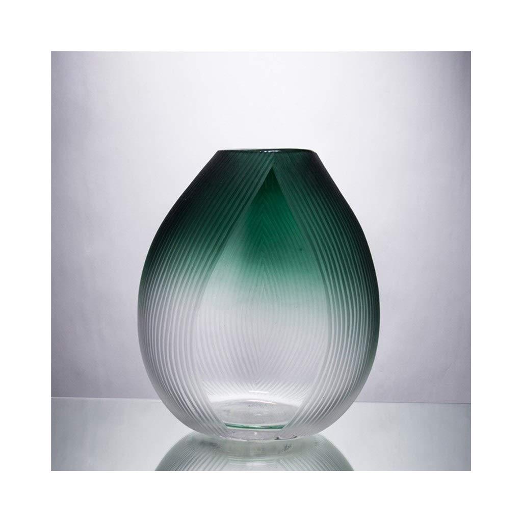 クリエイティブ透明ガラス花瓶ヨーロッパの家のリビングルームのテレビキャビネット装飾工芸品 (Size : 26cm*33cm) B07SBZDG7Z  26cm*33cm