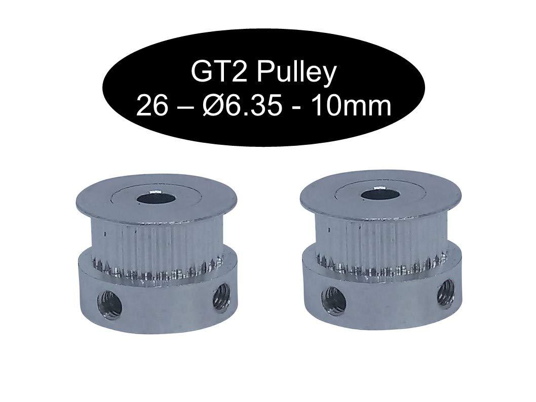 88mm GT2 chaque 2 pi/èces en fonction de la taille courroie dent/ée ferm/ée 6 mm de largeur