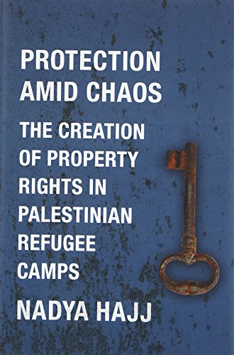 Protection Amid Chaos  The Creation Of Property Rights In Palestinian Refugee Camps  Columbia Studies In Middle East Politics