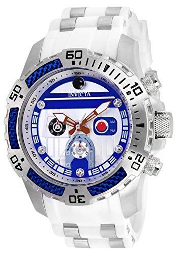 Invicta Men's 26184 Star Wars Quartz Multifunction Silver Dial Watch