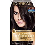L'Oréal Paris Superior Preference Fade-Defying + Shine Permanent Hair Color, 3C Cool Darkest Brown, 1 kit Hair Dye