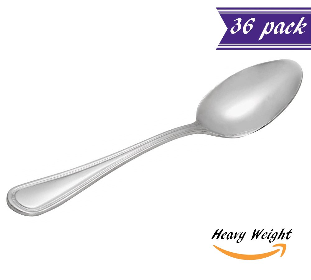 Amazon.com   (12 Pack) Tuscany Table Spoon, Large Heavy Weight 18\\0 ...
