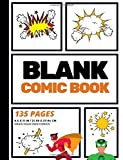 Blank Comic Book: Create Your Own Comic Strip, Blank Comic Panels, 135 Pages, Orange (Large, 8.5 x 11 in.) (Action Comics)...
