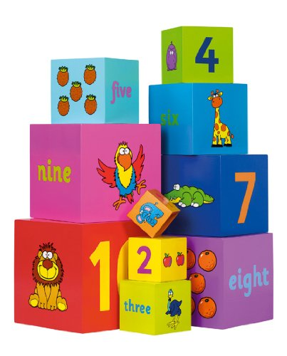 Tidlo Wooden Stacking Rainbow Cubes by Party Parade